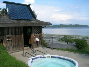 Solar Heated Spa - Hollyhock - Cortes Island