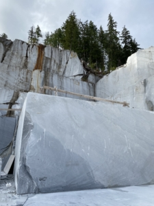 West Coast Wave Marble at Vancouver Island Marble Quarry, Tahsis, BC